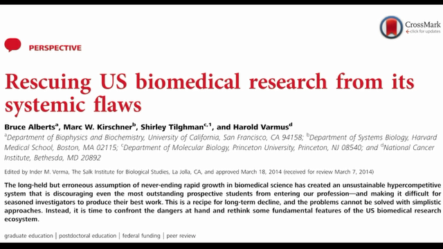 Rescuing US bIomedical Research From Its Systemic Flaws
